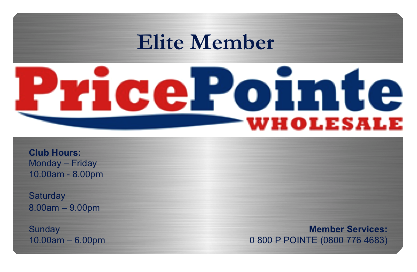 Elite PricePointe Club Membership